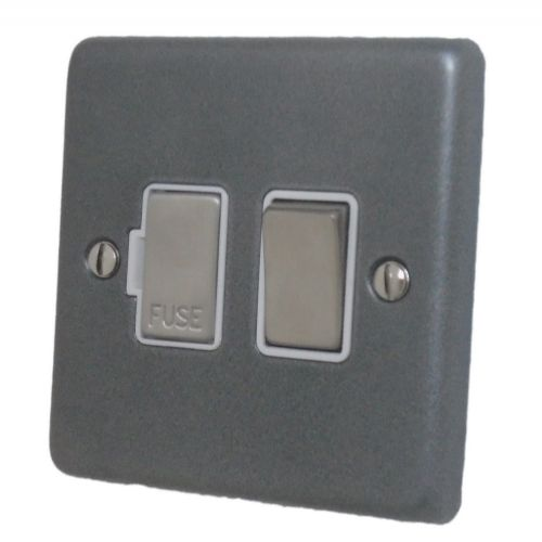 G&H CP257 Standard Plate Pewter 1 Gang Fused Spur 13A Switched